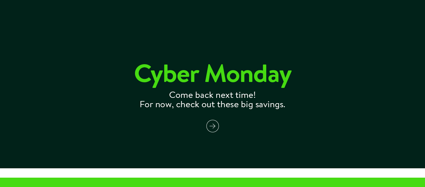 1d2172a5da Cyber Monday is off-line. Come back next time! For now