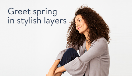 Greet spring in stylish layers