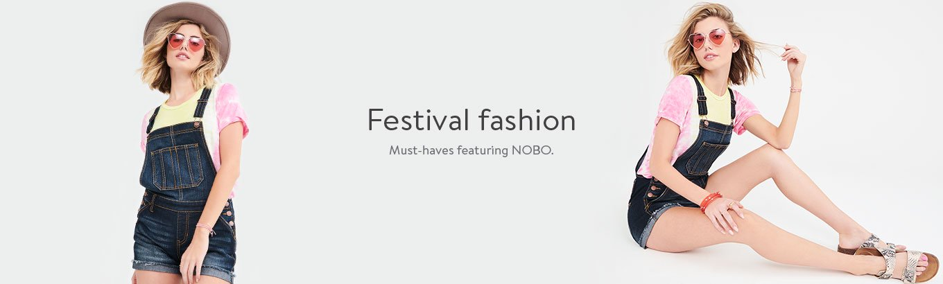 Festival fashion. Must-haves featuring Nobo.