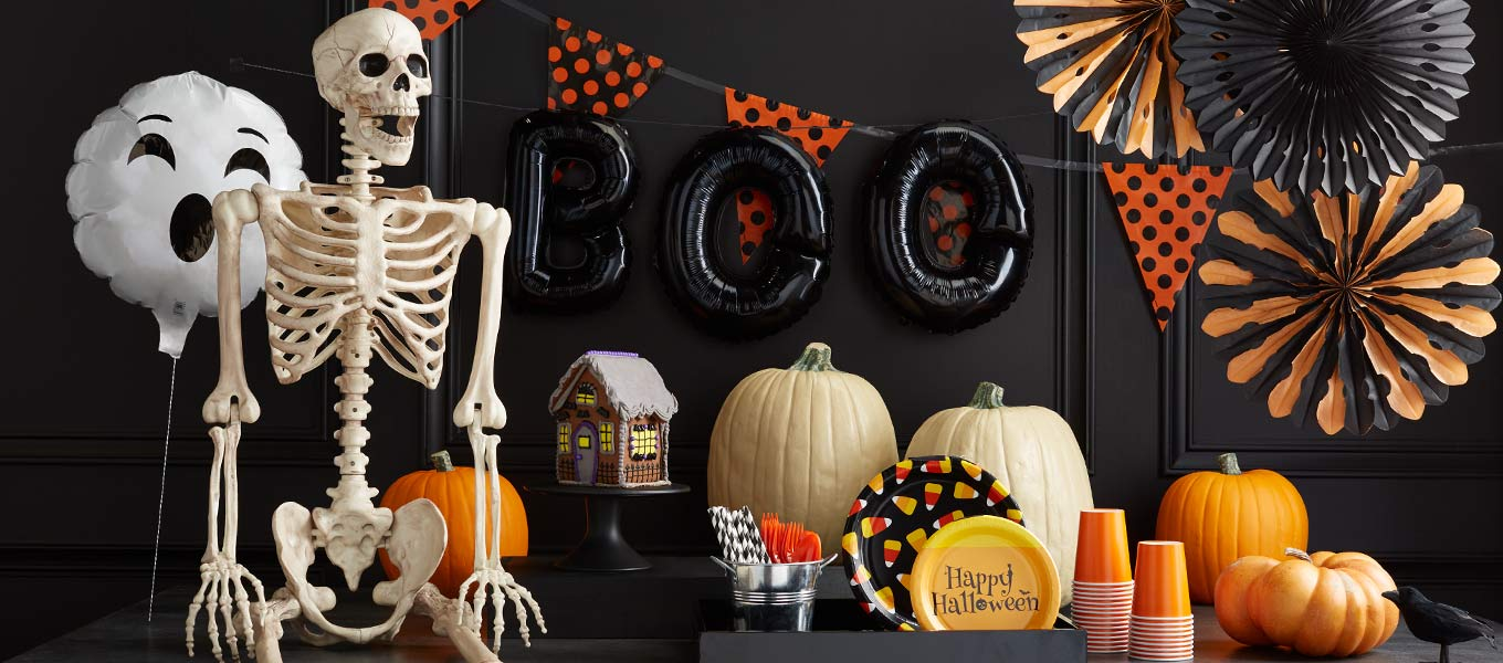 Find Halloween party supplies.
