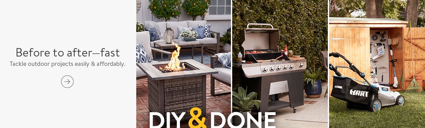 DIY and Done. Go from before to after—fast. Tackle outdoor projects easily and affordably. Shop now.