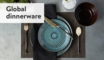 Global dinnerware.