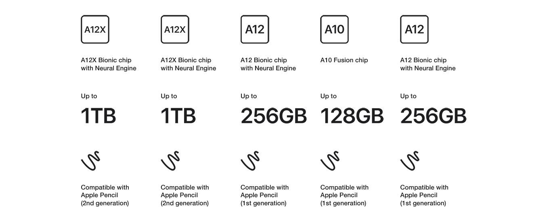 chip type, gigabytes