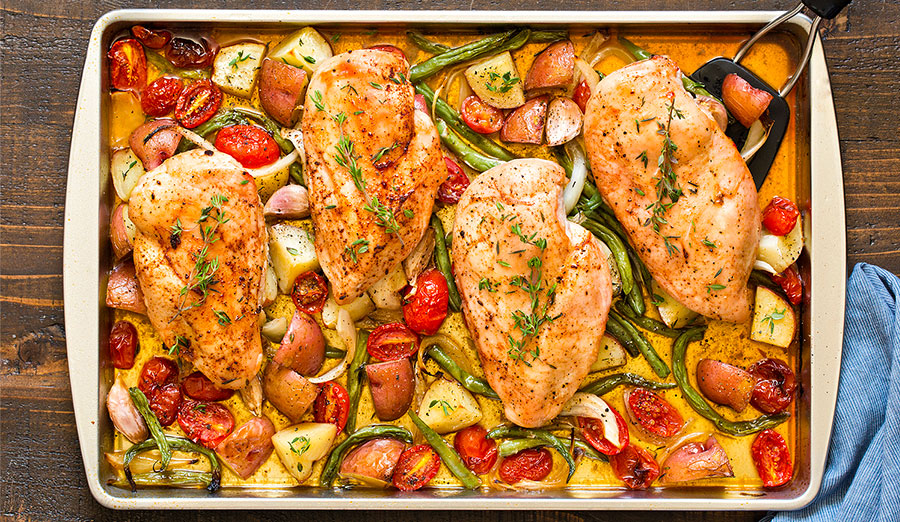 Winner! Winner! Sheet Pan Chicken Dinner