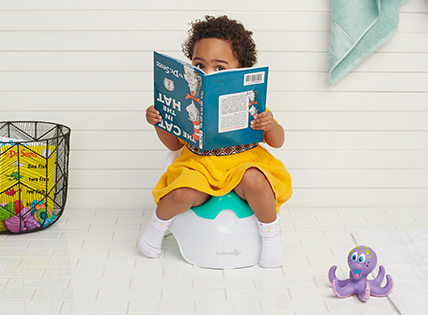 Potty Training Awareness Month. Get what your kiddo needs to go like a pro. Shop now