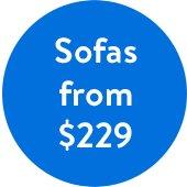 Sofa from $229 at Walmart