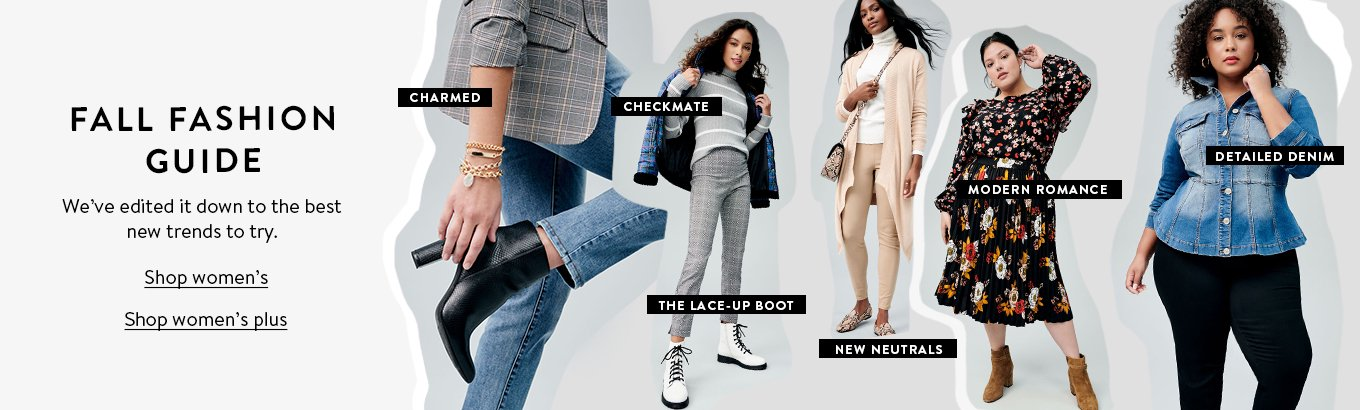 Fall fashion guide. Weve edited it down to the best new trends to try. Shop womens. Shop womens plus.