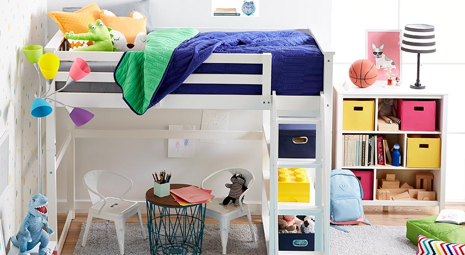 Compact & colorful. Get kids' rooms organized in affordable, colorful style.