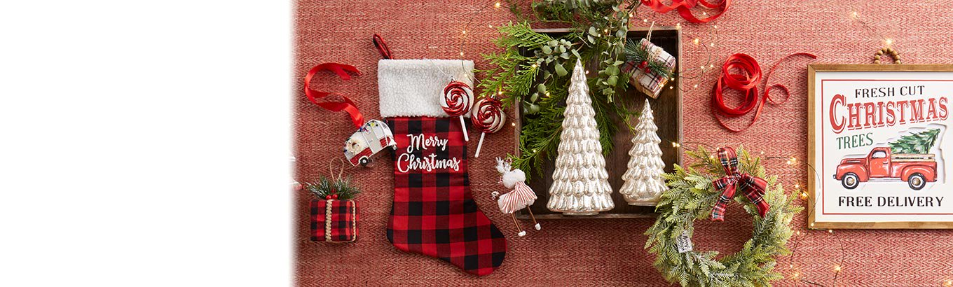 Deck the home. Holiday decor. Jolly ornaments, merry accents, and cozy touches all season.