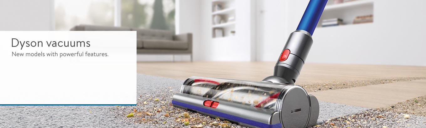 Dyson vacuums. New models with powerful features.