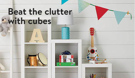 Beat the clutter with cubes