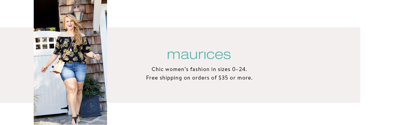 5a839a5daf maurices. Discover fashion for every occasion in sizes 0-24.