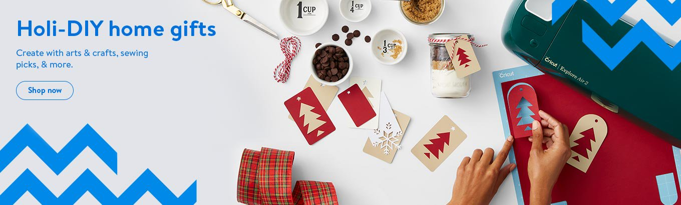 Holi-DIY home gifts. Create with arts and crafts, sewing picks, and more.