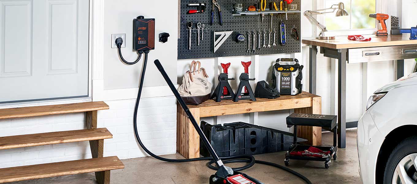 Outfit your garage: Jump starters, tools, car lifts & more.