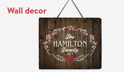 Shop personalized wall decor
