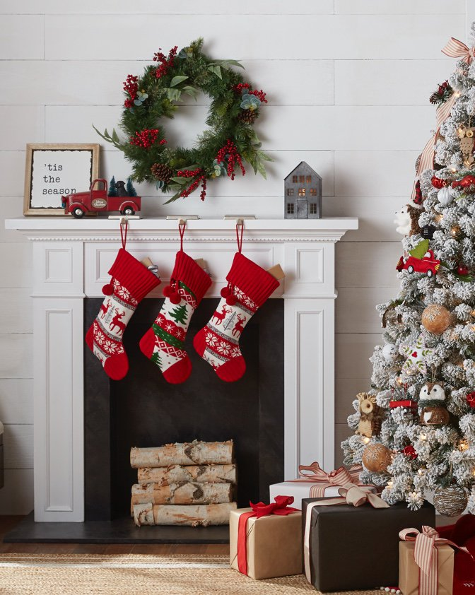 5 Christmas Fireplace Decorations Under 35 Walmart Com