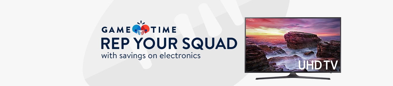 Rep your squad with savings on electronics