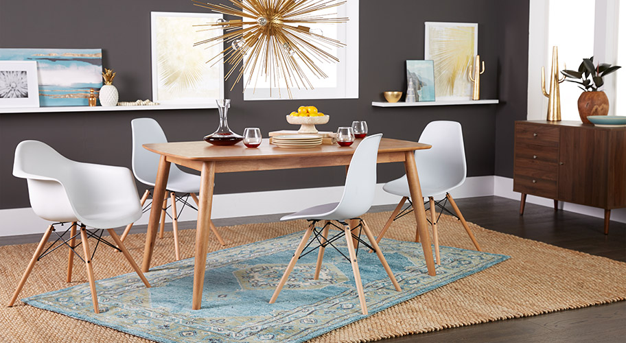 Dining Table Kitchen Kitchen dining furniture walmart mid century appeal satisfy your appetite for sleek iconic style with mid workwithnaturefo