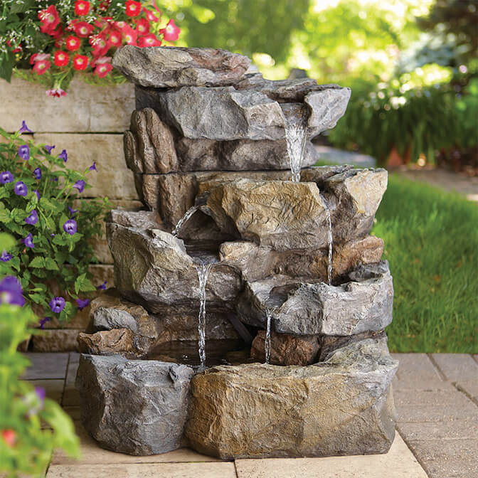 Let soothing fountains comfort & calm.