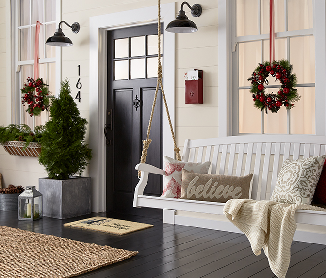 Deck out your porch with holiday decor.