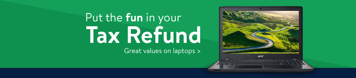 Put the fun in your tax refund with great values on laptops