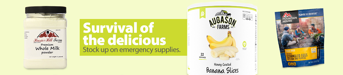 Stock up on emergency food.