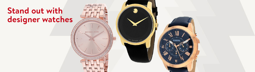 Stand out with designer watches