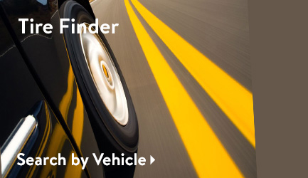 Tire Finder: Search by Vehicle.