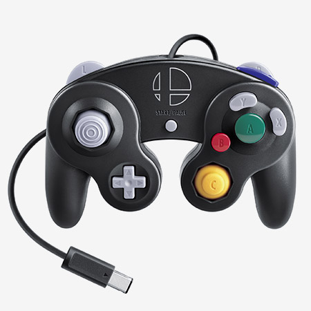 The Nintendo GameCube Controller Super Smash Bros. Ultimate Edition.