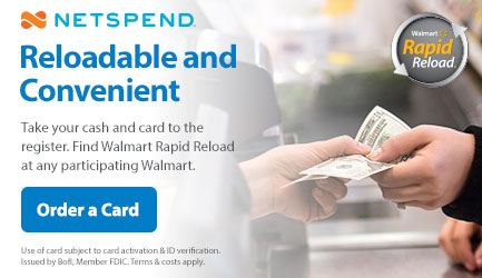 prepaid debit card netspend walmartcom - Reloadable Prepaid Debit Card