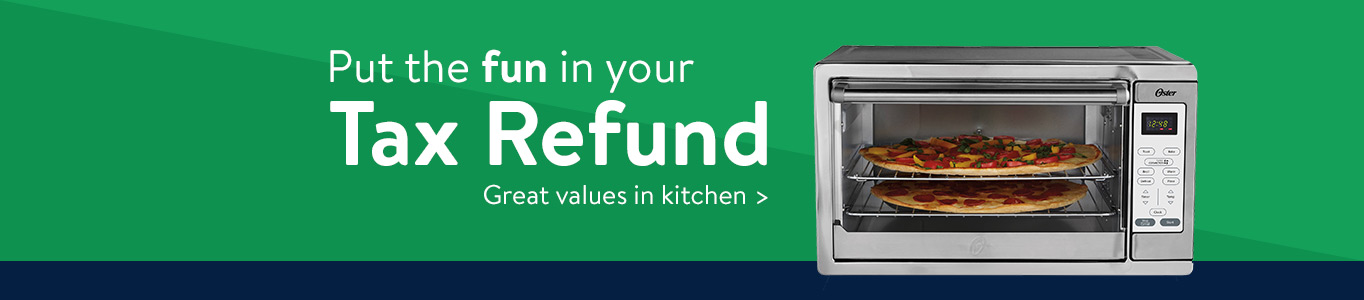 Put the fun in your tax refund with great values in kitchen