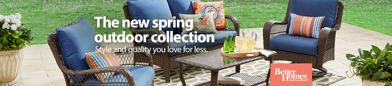 The new spring outdoor catalog from Better Homes and Gardens. Style and  quality you love - Better Homes & Gardens Walmart.com