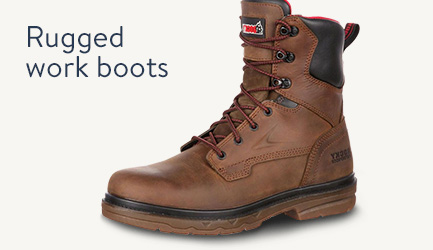 Rugged work boots