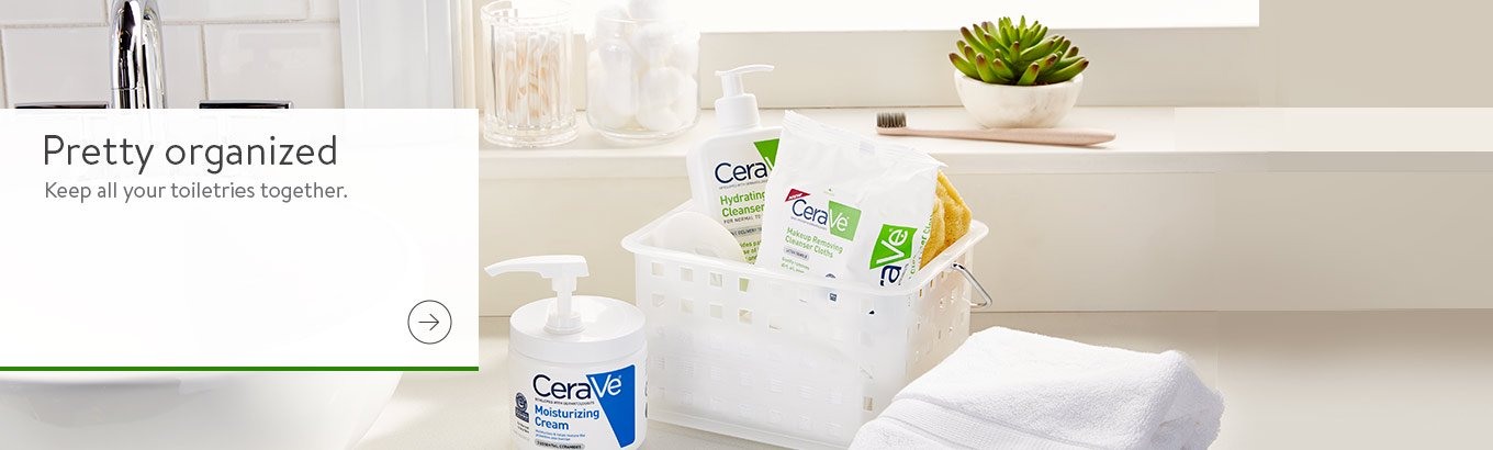 Take the stress out of communal bathrooms by storing all your toiletries in a convenient caddy.