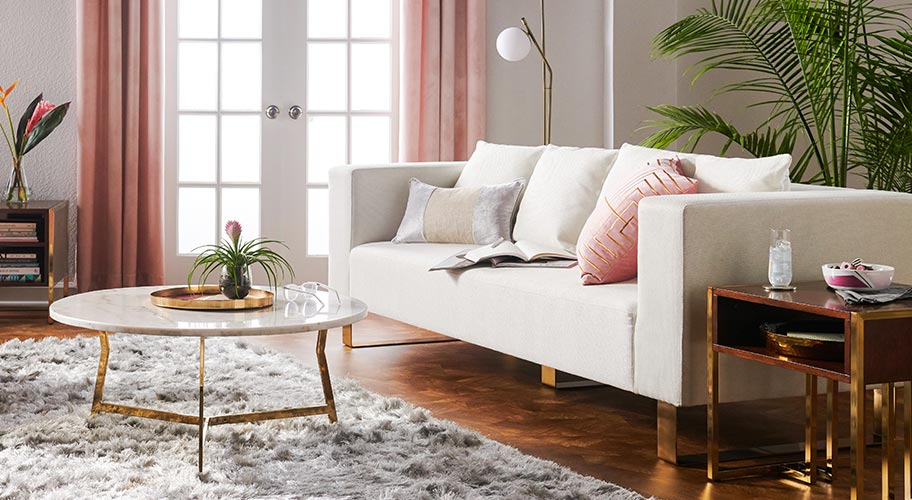 Style A Living Room That Feels Fresh Contemporary With Furnishings From Our