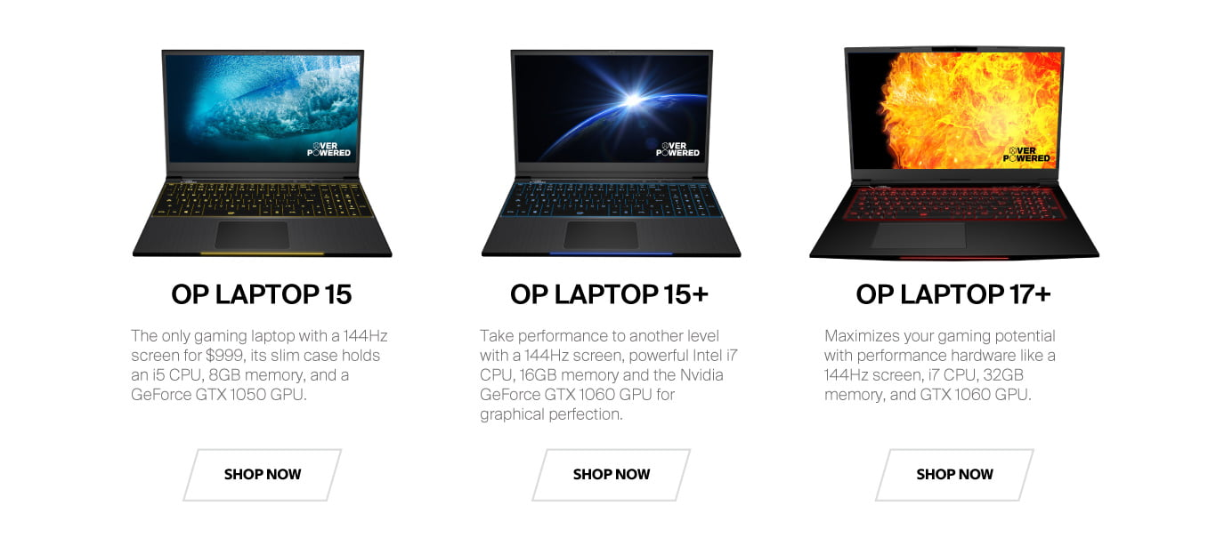 Overpowered Gaming Laptops | Overpowered Gaming Desktops
