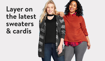 Layer on the latest sweaters & cardis