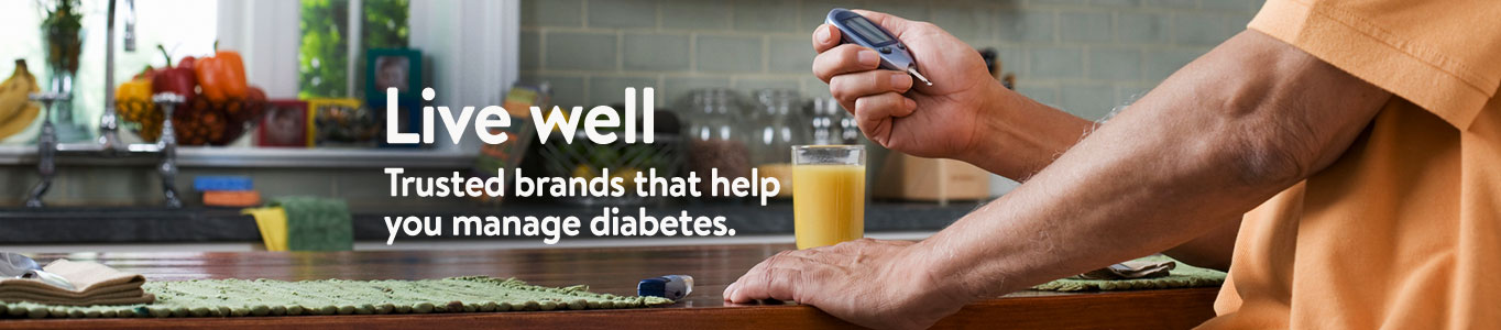 Live Well. Trusted brands that help you manage diabetes.