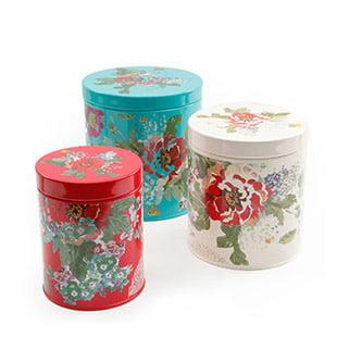 Floral Food Storage Tins