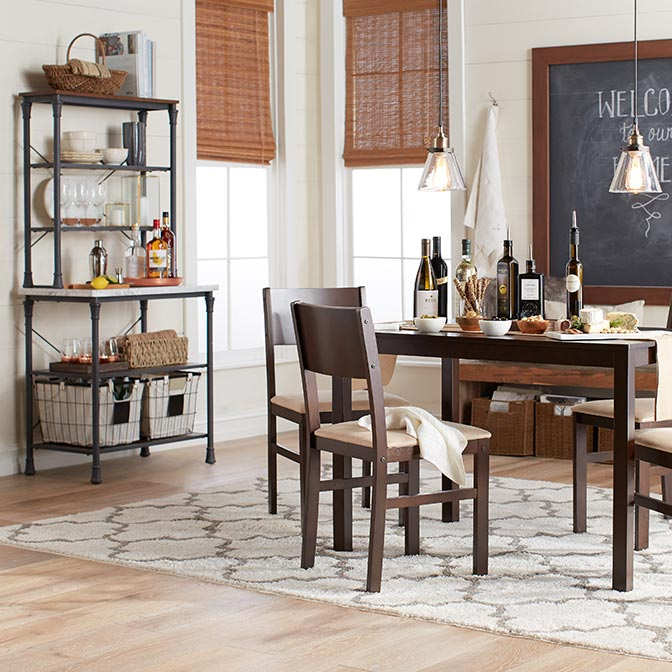 Rustic kitchen furniture u0026 decor & Kitchen u0026 Dining Furniture - Walmart.com