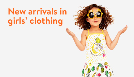 New arrivals in girls' clothing.