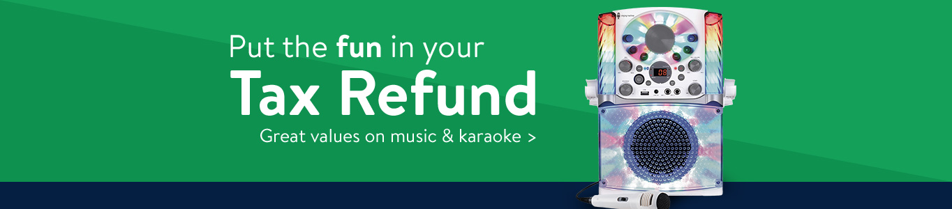 Put the fun in your tax refund with great values on music and karaoke