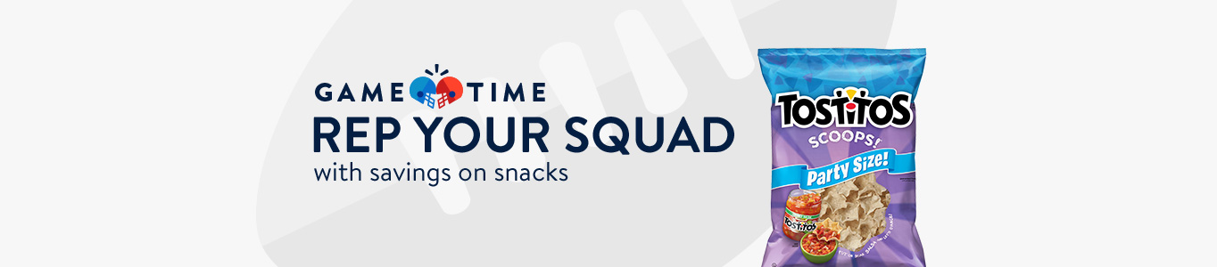 Rep your squad with savings on snacks