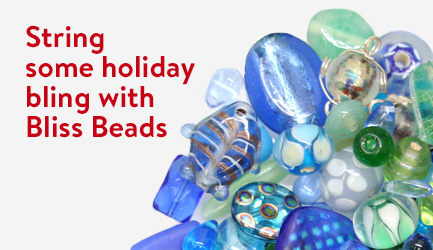 String some holiday bling with Bliss Beads.