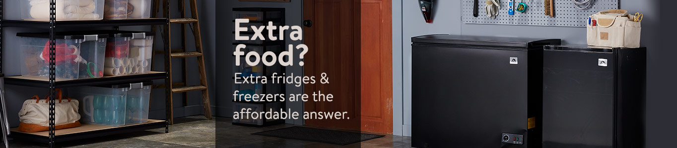 Extra food? Extra fridges & freezers are the affordable answer.