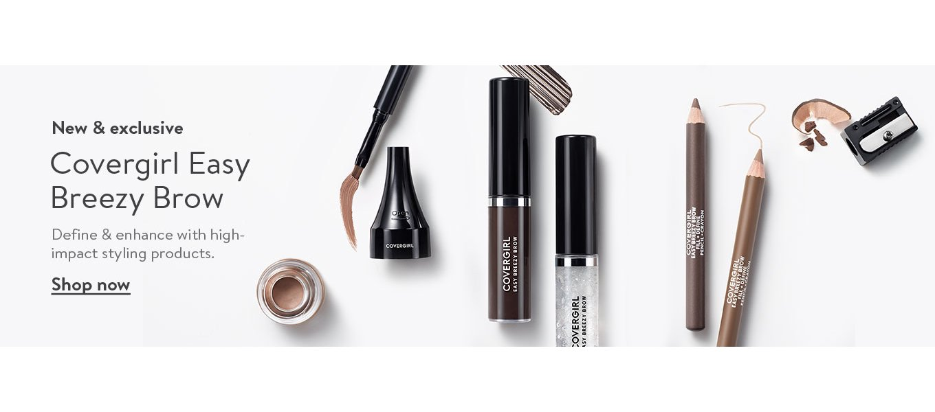 New & exclusive: Covergirl Easy Breezy Brow. Define & enhance with high-impact styling products. Shop now.