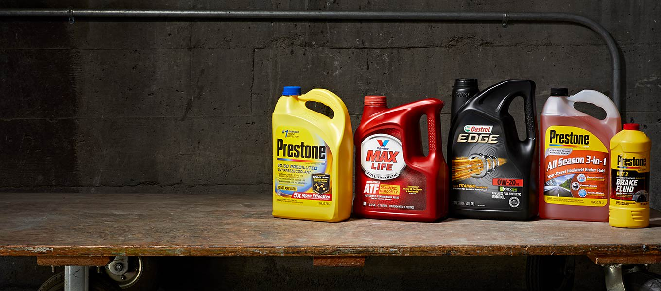 Keep your car running strong with the right oils & fluids