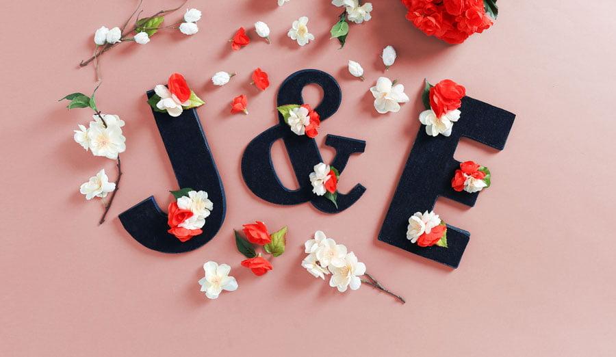 Decorating DIY: Faux Floral Wooden Letters
