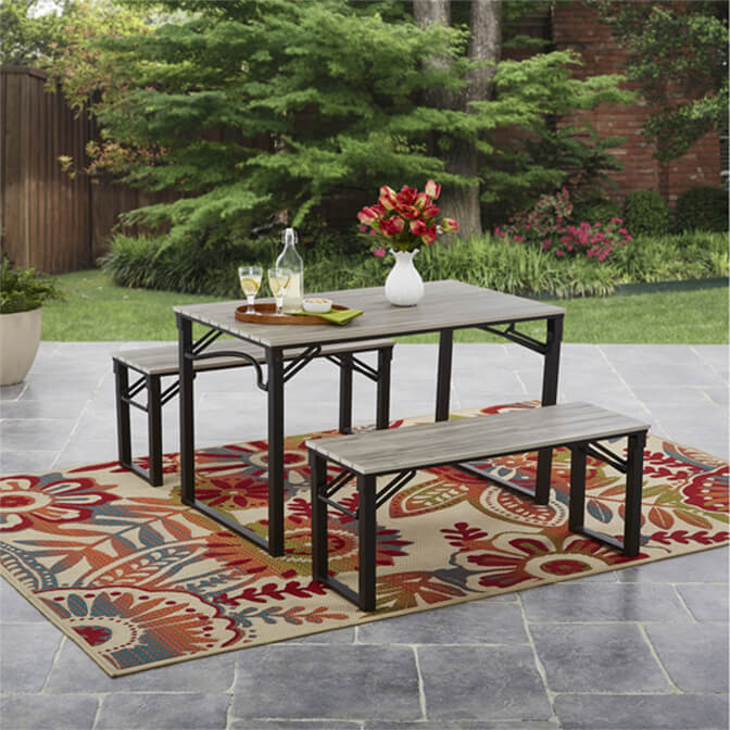 small outdoor dining set front porch furniture mainstays patio furniture walmartcom