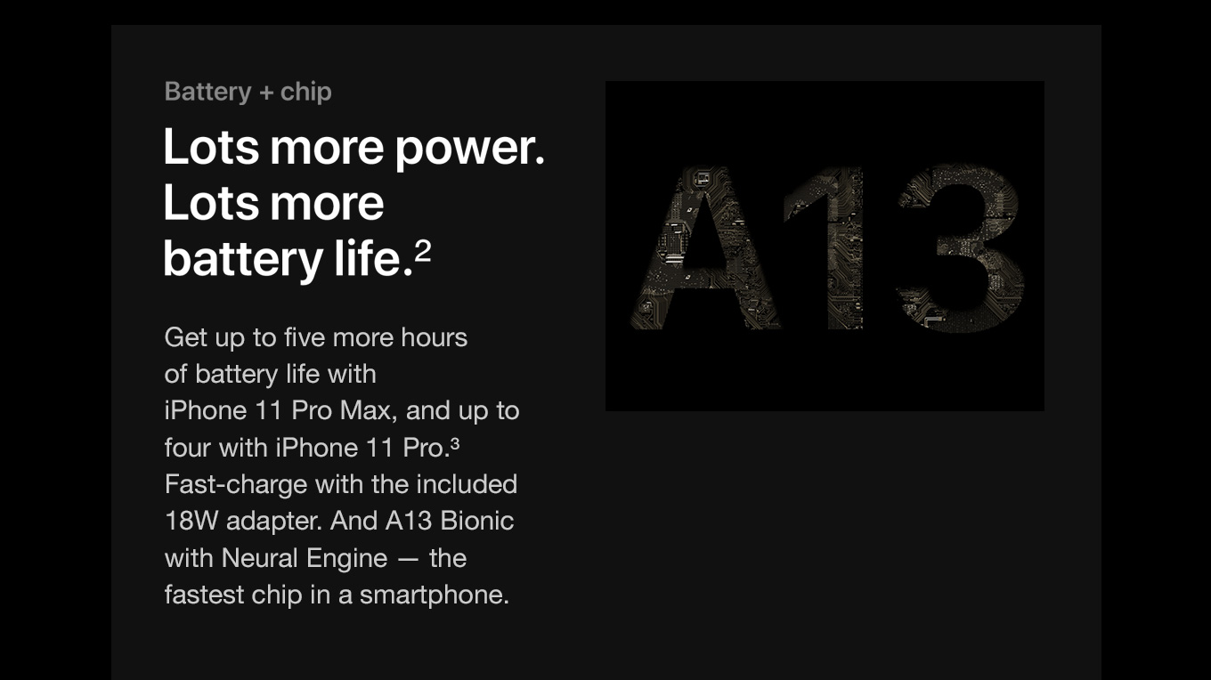Battery + chip. Lots more power. Lots more battery life.